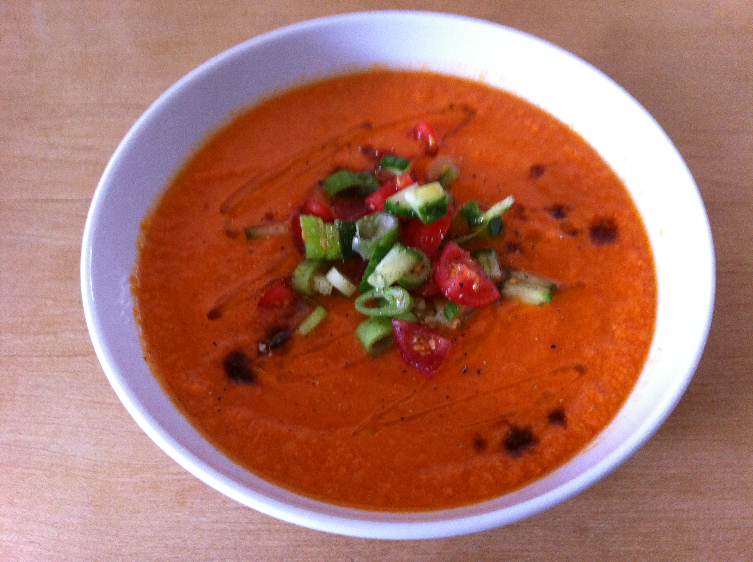 Chilled tomato and cucumber soup | pigeoncottage
