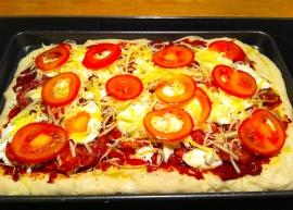 Sobrasada de Mallorca Pizza - uncooked