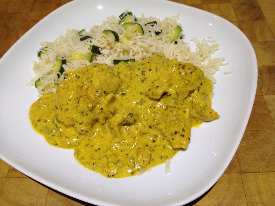 Spicy citrus yoghurt curry