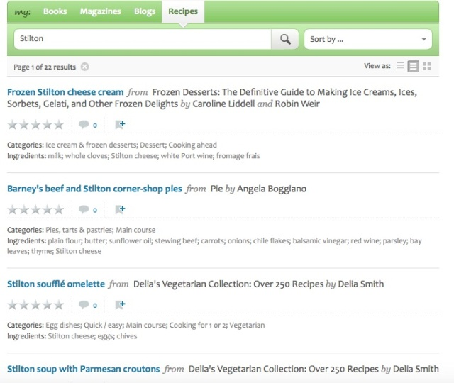 EYB recipe search