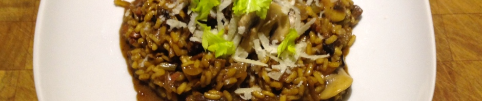 Porcini and smoked bacon risotto