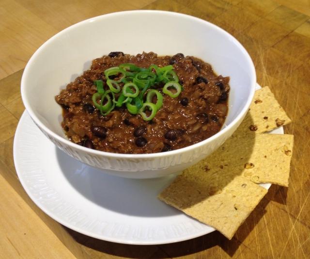Venison and black bean chilli