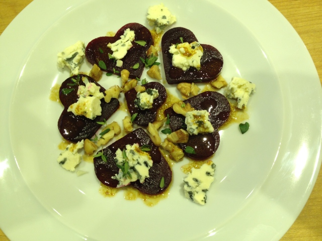 Beetroot Hearts with St Augur