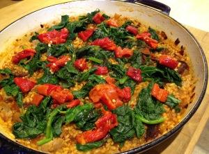 Chorizo paella