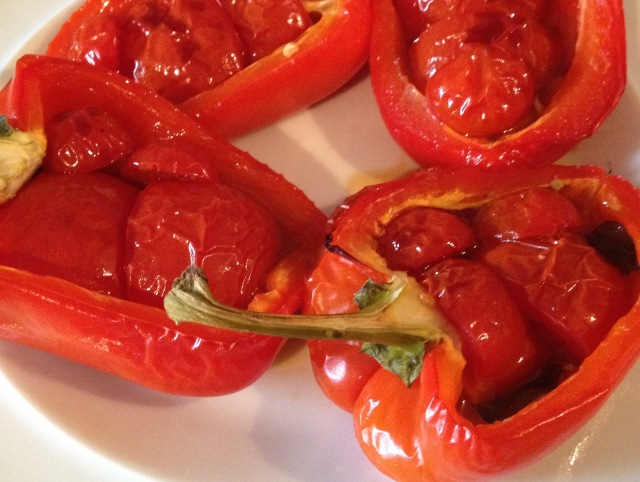 Stuffed, roasted peppers