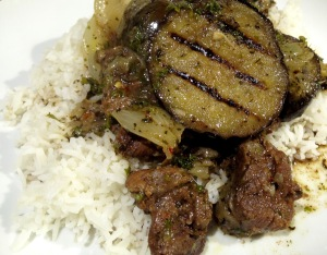 Lamb stew with Aubergine