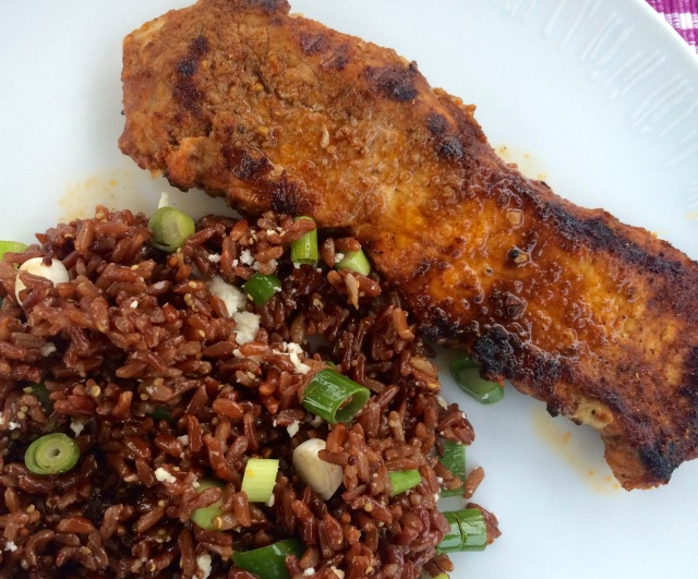 Pork with red rice