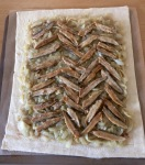 Anchovy and onion tart