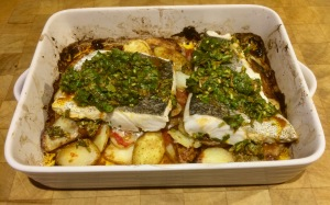 roasted hake supper