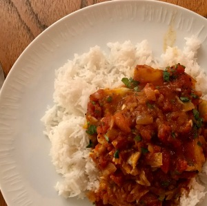 Cod with rice