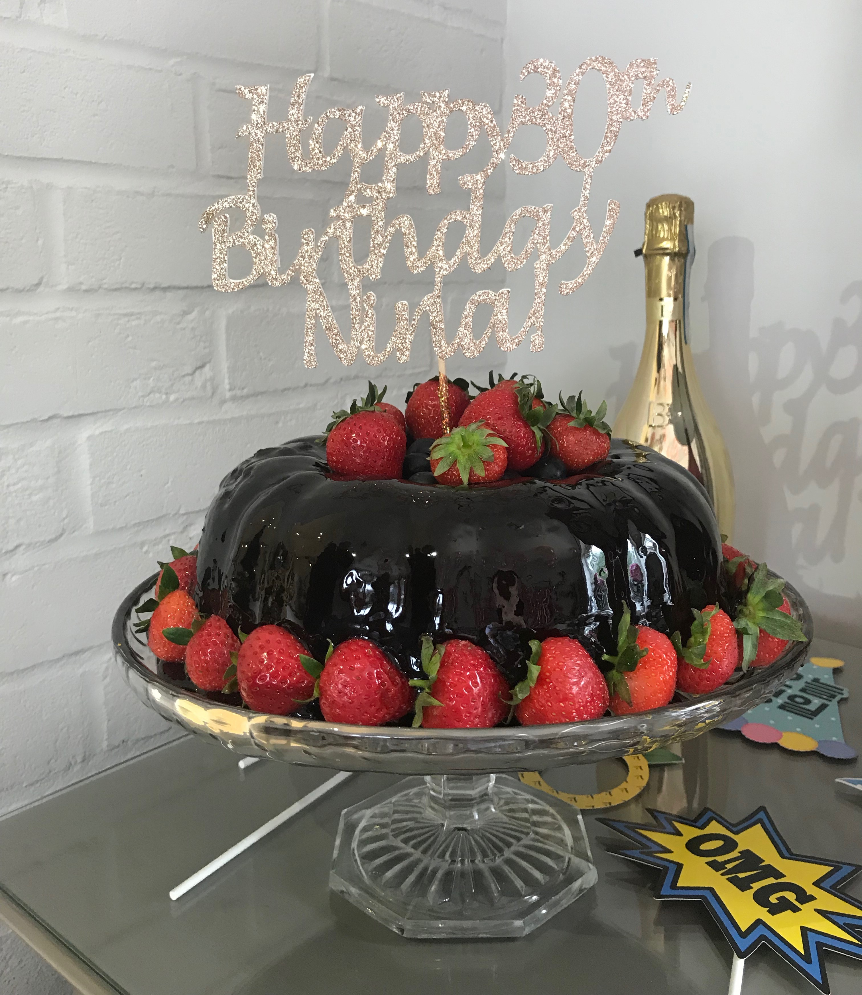 Pleasing Birthday Chocolate Bundt Cake Pigeon Cottage Kitchen Personalised Birthday Cards Akebfashionlily Jamesorg