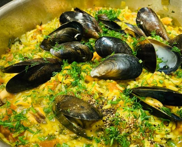 mussel pilaf