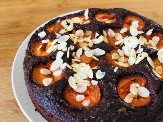 chocolate apricot tart